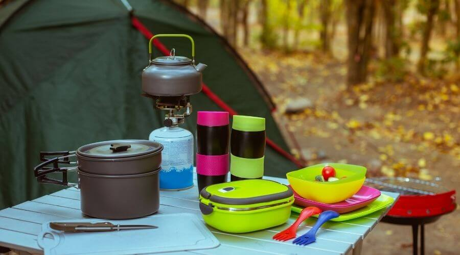 Camping essentials for camping in the rain