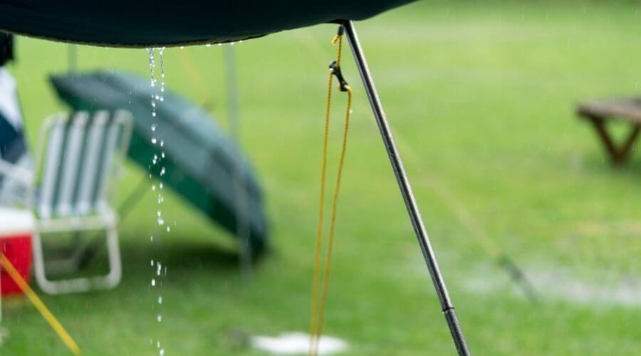Wet weather camping